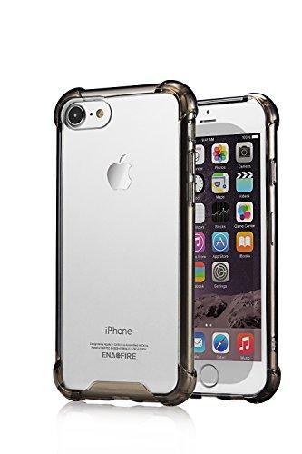 EnacFire iPhone7 ケース アイフォン7 ケース 落下防止 防指紋 超薄 耐衝撃カバー 高品質TPU ケース ブラック 12ケ月保証