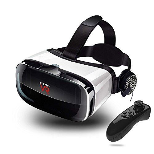MEMO 3D VR ゴーグル 運動イヤホン・リモコン・ヘッド...