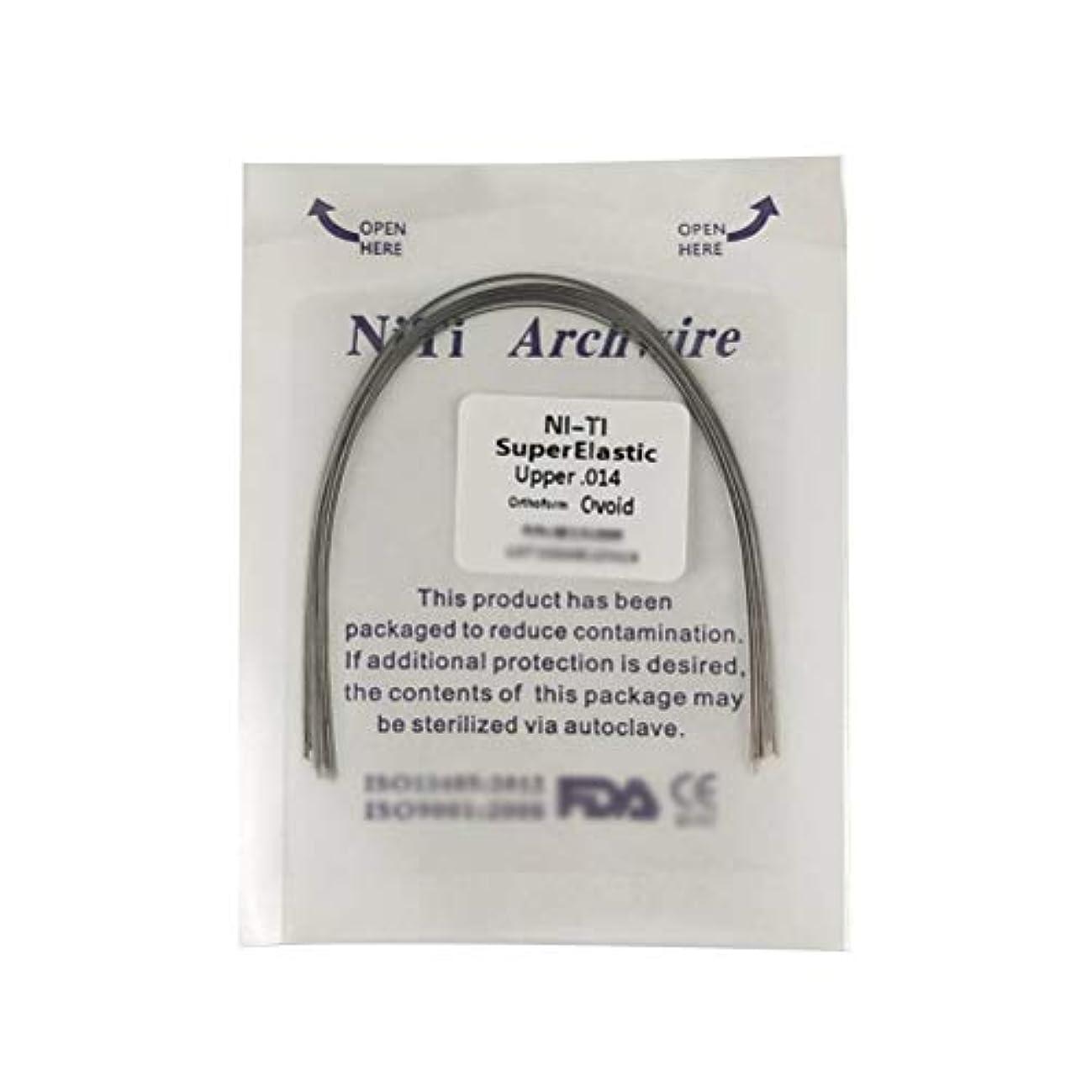 ユーモアプラスチックアクセスできないSUPVOX 10個Niti矯正用超弾性NitiラウンドアーチワイヤーUpper Dental Oral Supplies