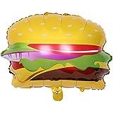 Demiawaking アルミバルーン ハンバーガー 風船 誕生日 パーティー 会場装飾 ケータリング オープニング 53*49CM 1個