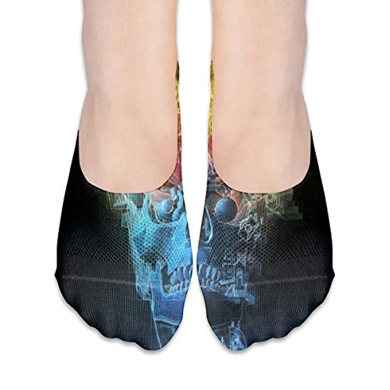 模倣列挙する技術者女性のトリッピースカルブレインローカットコットンボート隠し目に見えない靴下