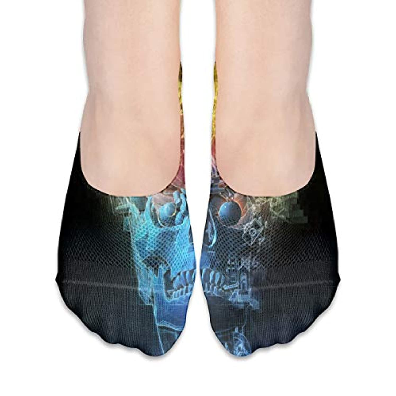 論理バック南東女性のトリッピースカルブレインローカットコットンボート隠し目に見えない靴下