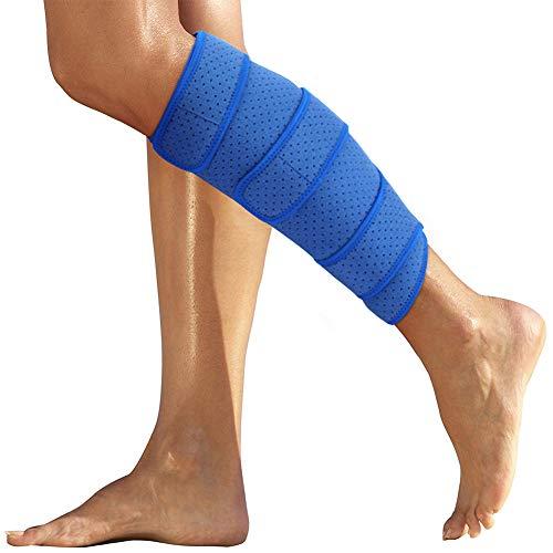 2019最新 ふくらはぎサポーター 肉離れ スポーツ すねサポート 下腿サポーター ふくらはぎの圧迫・保護に 左右兼用 調節可能 マジックテープ付け 通気性バツグン ずり落ちない フリーサイズ 1枚入り