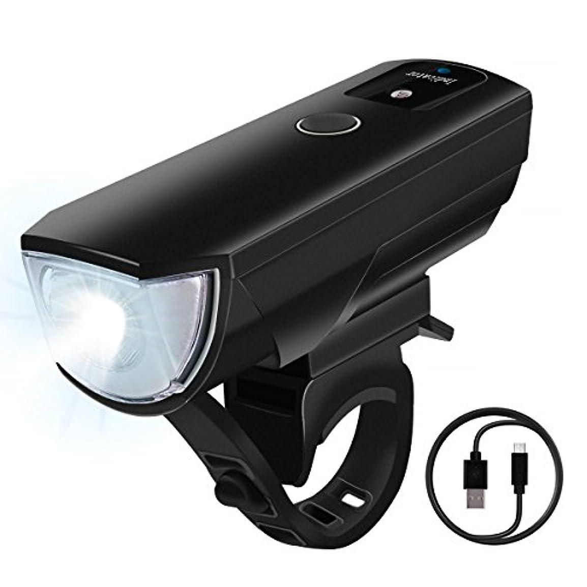 密接に蓋光の【2018最新版】 自転車 ライト 自転車ヘッドライト 防水 自動点灯 高輝度LED 4段階調節可能 USB充電式 2000mAh 自動明度調節 防振防災 小型 取り付け簡単
