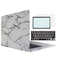 Tojia MacBook Air Pro Retina ハードケース キーボードカバー スクリーンシェル (MacBook Air 13インチ 2018、マーブルA)