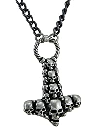 Alchemy Gothic Skullhammer Thor 's Hammerペンダントwithネックレス