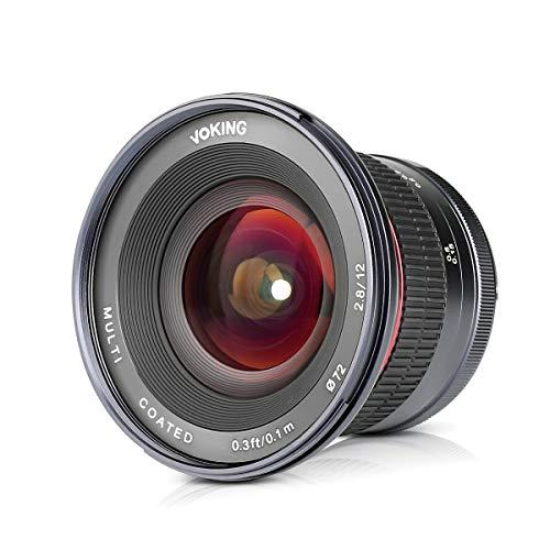 Voking VK 12mm F / 2.8 Nikon N1/1マウント ミラーレスAPS-Cカメラ用超広角手動フォーカスレンズ, V1 V2 V3 J1 J2 J3 J4 J5 用 など