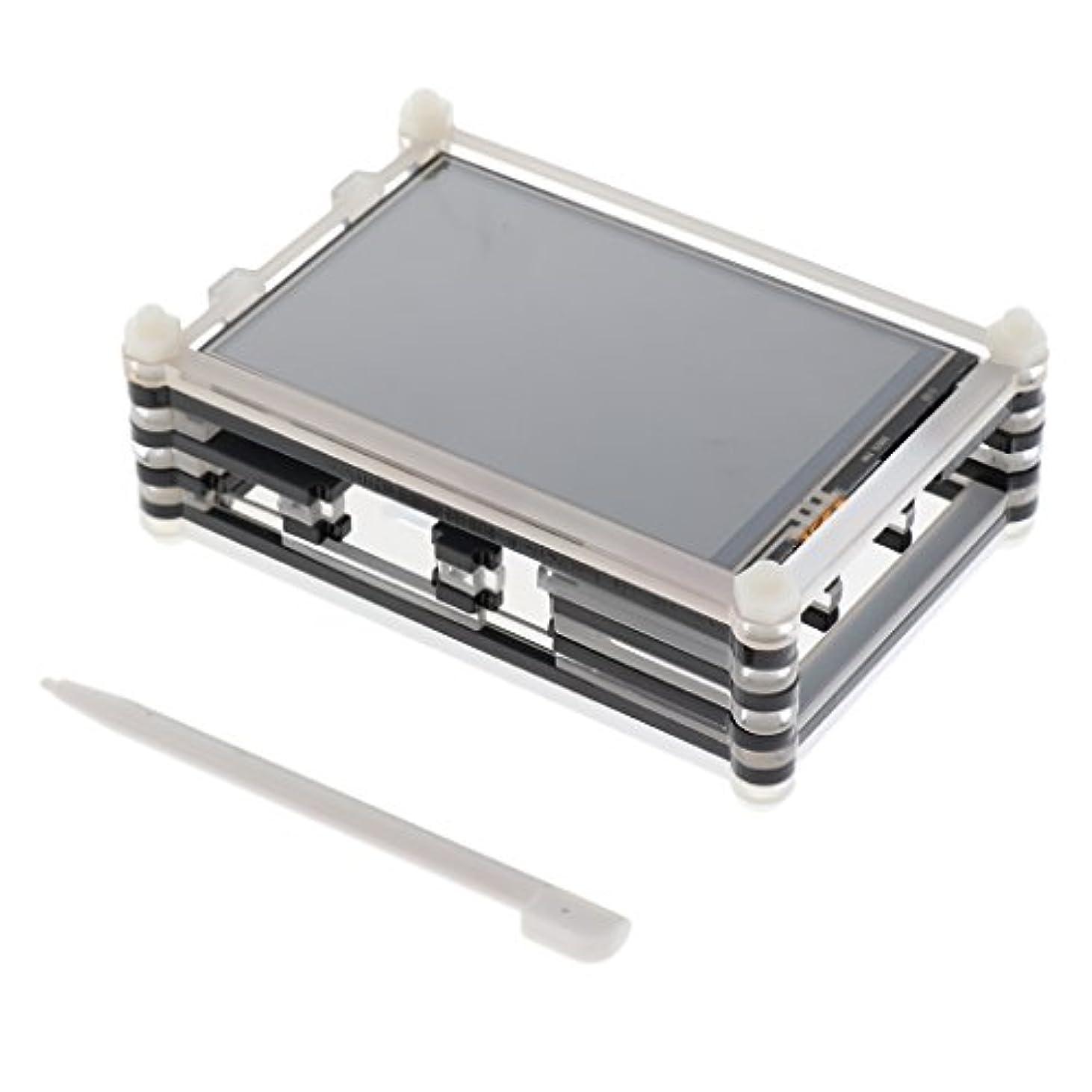 パリティエミュレートするサミットShiwaki 3.5インチ TFT LCDタッチスクリーン ディスプレイ ラズベリーパイ3用 保護ケース付き