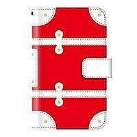 PLUS-S iPhone XR ケース 手帳型 トランク 旅行 カバン【04.レッド】 全面保護 カード収納 スタンド機能 ワイヤレス Qi充電対応 ストラップホール