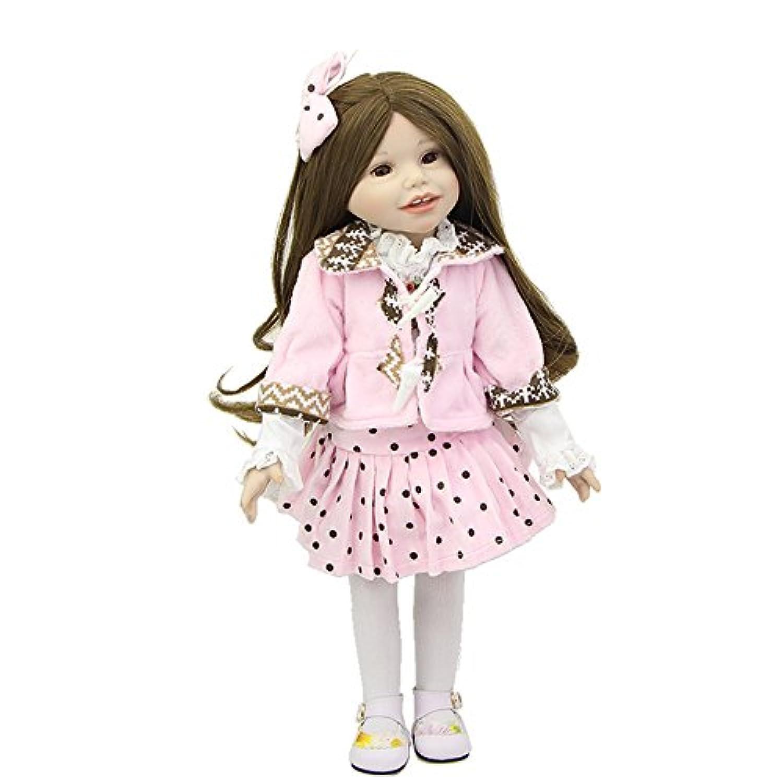 新しいスタイル18インチアメリカン人形フルボディビニール新生児プリンセスガールズ赤ちゃんリアルなDolls Toy withハンドメイド服Kids Playmate