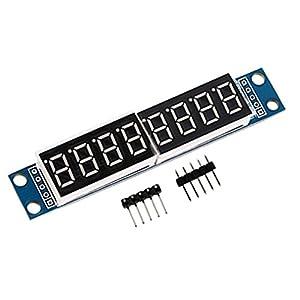 HiLetgo® 2個セット MAX7219 8-ビット デジタル LED ディスプレイ チューブ Arduino 51/AVR/STM32に対応