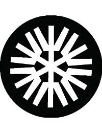 家紋シール 六つ木文字紋 布タイプ 直径40mm 6枚セット NS4-3079