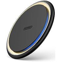 DesertWest Qi 15W ワイヤレス充電器「最新版」急速充電 置くだけ充電 Qi認証済み ワイヤレスチャージャー 15W / 7.5W/ 10W 無線充電器iPhone XS/XS Max/XR/X / 8 / 8 Plus、Galaxy S9 / S9+ / S8 / S8+など、その他Qi対応機種