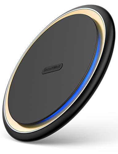 【Qi認証済み/PSE認証済】 Qi 15W 急速ワイヤレス充電器 DesertWest ワイヤレス充電 qi 充電器【2019改良最新版 】置くだけ充電 ワイヤレスチャージャー 充電パッド 15W / 7.5W/ 10W 滑り止め 無線充電器 iPhone XS / XS Max / XR / X / 8 / 8 Plus、Galaxy S9 / S9+ / S8 / S8+/S10/S10+/Sony xperia xz2/xz3/AQUOS R3/Apple AirPods2/その他Qi対応機種 usb type c ケーブル付属