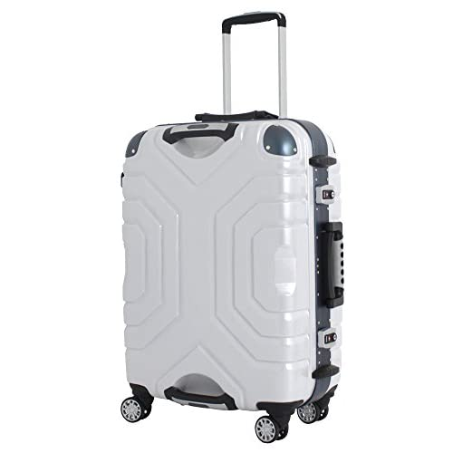 (シフレ) Siffler スーツケース ESCAPE`S B5225T-67 67cm ヘアラインホワイト/ブルー