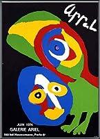 ポスター カレル アペル Ariel 額装品 アルミ製ベーシックフレーム(ブラック)