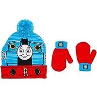 Thomas Train Little Boys Toddler Winter Hat and Mitten Set