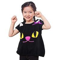 ベビー キッズ 子供服 ハロウィン 仮装 衣装 ジャックオーランタン かぼちゃ 黒猫 おばけ スモック Tシャツ フリース コスプレ ブラック 110cm 1024040607BK110