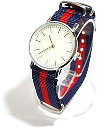 bd501595e3 OVER RAG 手首回りのアクセントに最適! ストライプNatoタイプベルトカジュアルウォッチ 腕時計 時計 ブレスレット カジュアル時計 シェル  レディース時計 メンズ時計…