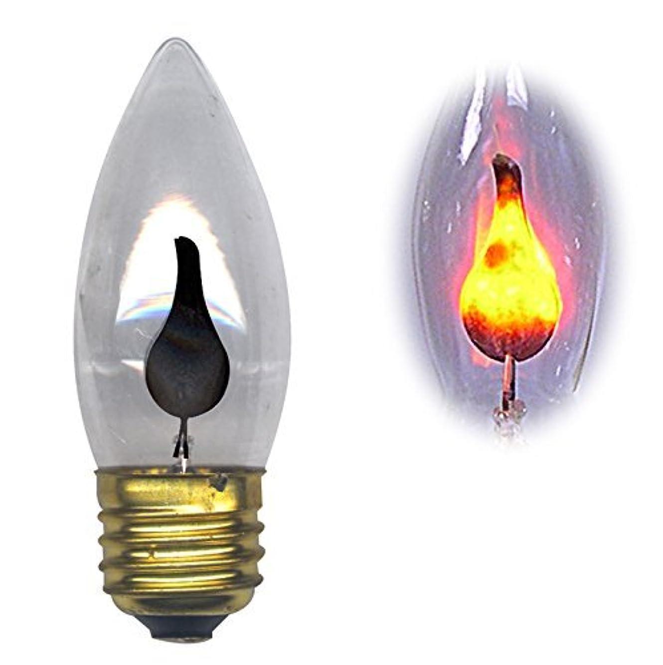 ピアノ道を作る八Flicker Flame 3ワット標準ベース電球Flickers with anオレンジグロー( Pkg / 10 )