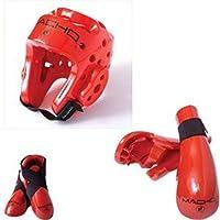 (child medium, Red) - Macho Dyna 5 piece sparring gear set