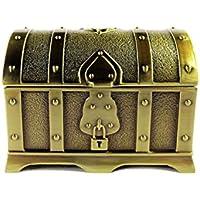 ジュエリーボックス ドラクエ風 装飾 宝箱 アンティーク (ゴールド)