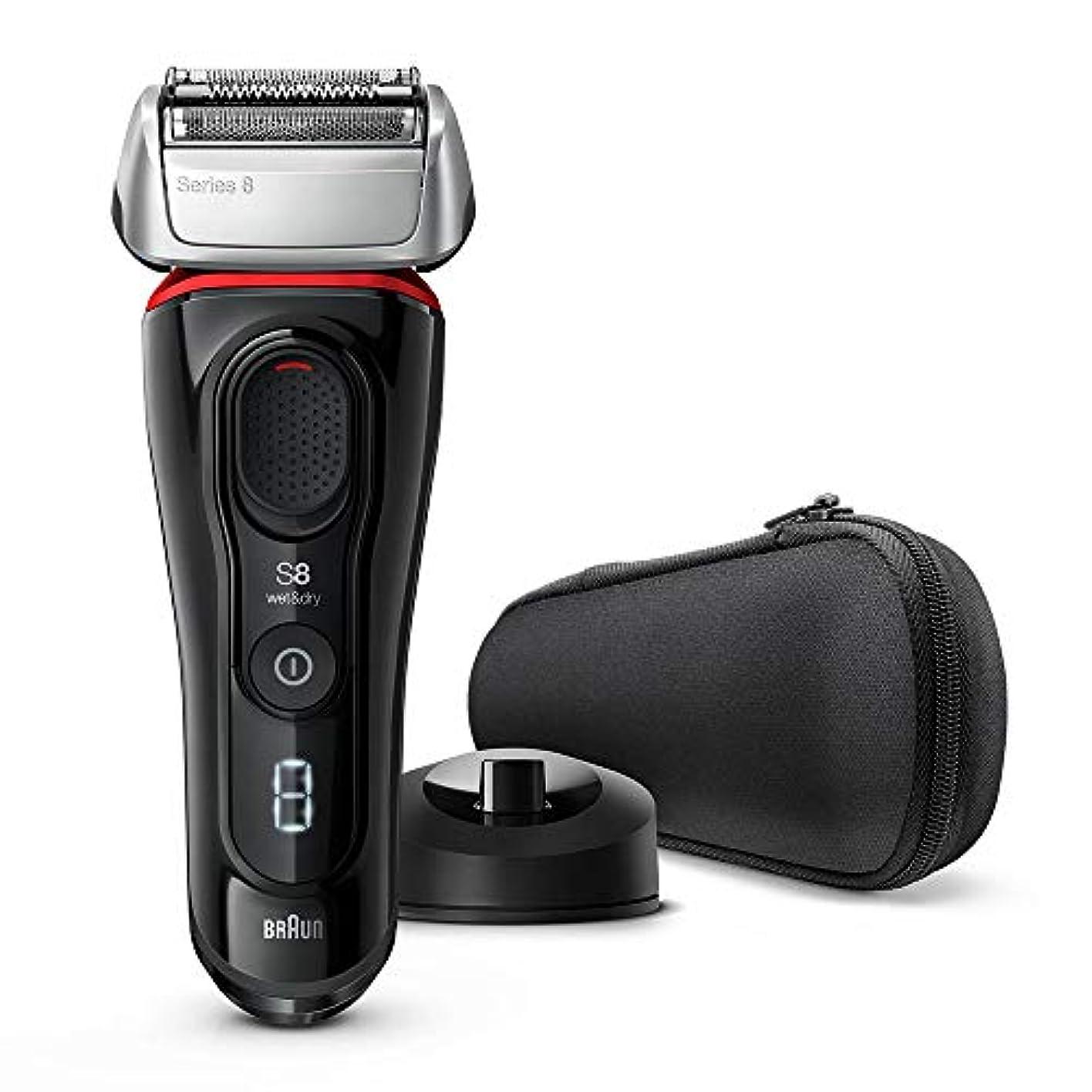 脳ポータル端【Amazon.co.jp 限定】ブラウン メンズ電気シェーバー シリーズ8 4カットシステム 水洗い/お風呂剃り可 シルバー 8340s