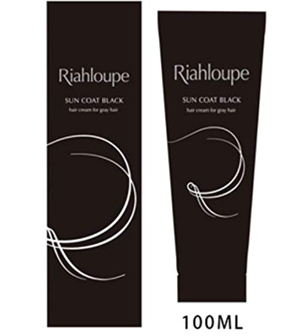 ダメージ強調魅惑する洗い流さない 光で染まる白髪染め リアループサンコートブラックRiahloupe Sun Coat Black 100g