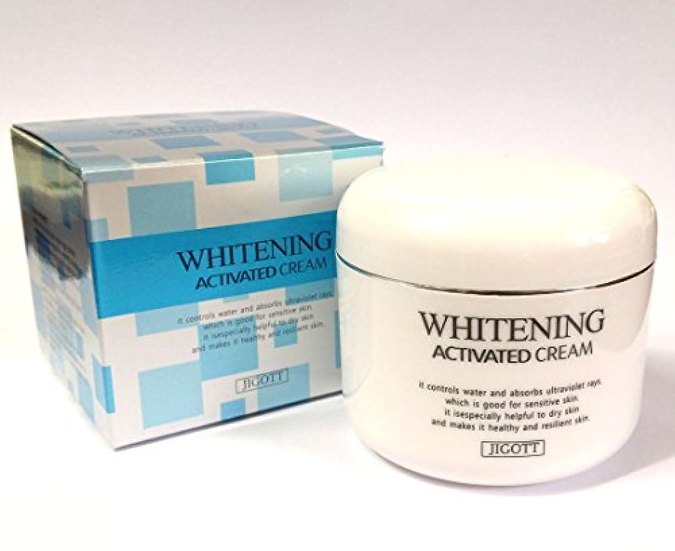 後ろに接続された管理します[JIGOTT] ホワイトニング活性化クリーム100ml/Whitening Activated Cream 100ml/潤い、滑らか、明るい/韓国の化粧品/moisture,smooth,bright/Korean Cosmetics (3EA) [並行輸入品]