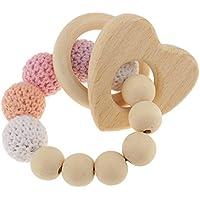 Fenteer 木製 編みビーズ ブレスレット ティースリング 赤ちゃん 哺乳おもちゃ つかむ鍛え 全4種 - #2