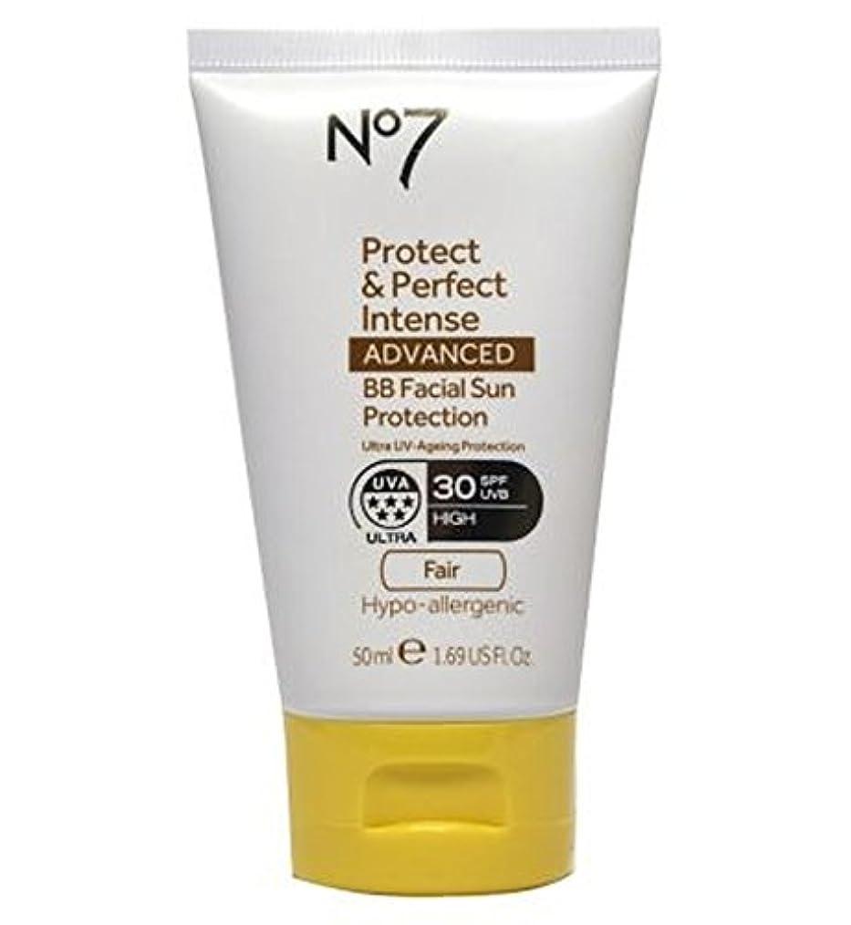 パーフェルビッド枠急襲No7 Protect & Perfect Intense ADVANCED BB Facial Sun Protection SPF30 Light 50ml - No7保護&完璧な強烈な先進Bb顔の日焼け防止Spf30...