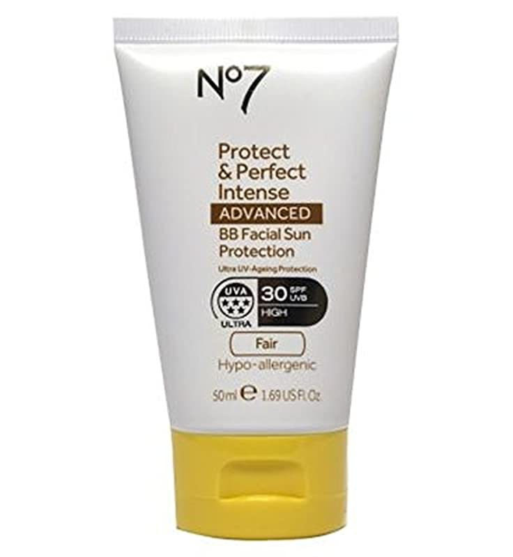 現代官僚清めるNo7 Protect & Perfect Intense ADVANCED BB Facial Sun Protection SPF30 Light 50ml - No7保護&完璧な強烈な先進Bb顔の日焼け防止Spf30...
