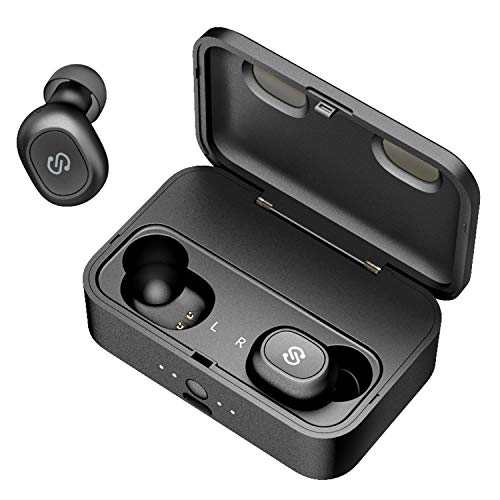 【Bluetooth進化&iPhone/Android適用】 完全 ワイヤレス イヤホン SoundPEATS(サウンドピーツ) Q32 Bluetooth イヤホン 高音質 低遅延 フルワイヤレスイヤホン 自動ペアリング ブルートゥース イヤホン20回 充電ケース付き Bluetooth 5.0 イヤホン 防水&防汗 左右分離型 片耳&両耳モード Siri対応 超軽量