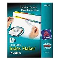 Index Maker Divider w /マルチカラータブ、8-tab、手紙、5セット/パック、合計10pk , Sold as 1カートン