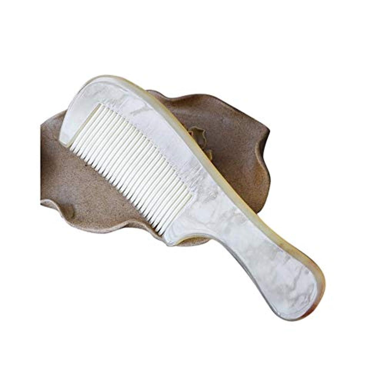 世代くすぐったい効率WASAIO 自然工芸シープホーンくしDetangleコームズメンズ?レディース?ヘアーブラシセットパドル帯電防止