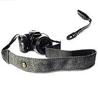 Traveger カメラショルダーネックストラップ 手首&ショルダーストラップ付き デジタル一眼レフ/一眼レフ/ミラーレスカメラ用 頑丈&調節可能なベルト スタイリッシュなデザイン 屋内&旅行の写真アクセサリー