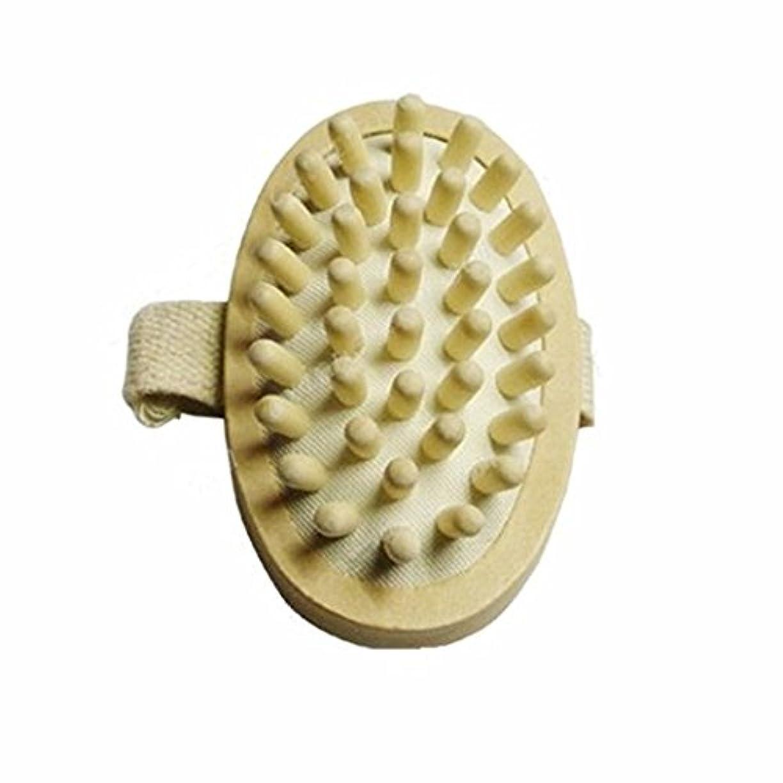 三角形熱抑圧ThunderStar Natural Wood Wooden Hand-held Massage Circulation Massager Anti Cellulite Sauna Spa Body Brush Cellulite...