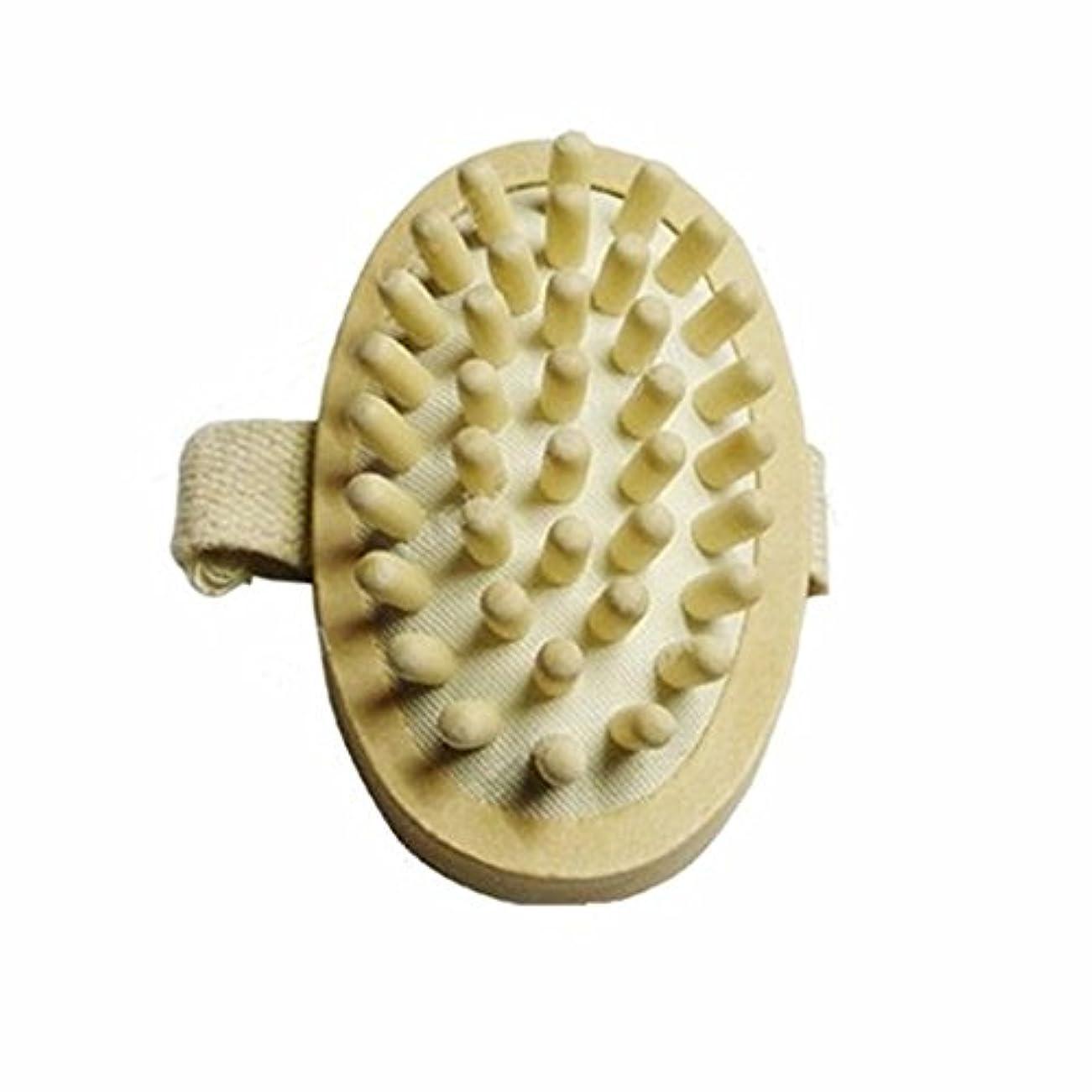 圧縮するアクセサリー協力ThunderStar Natural Wood Wooden Hand-held Massage Circulation Massager Anti Cellulite Sauna Spa Body Brush Cellulite...