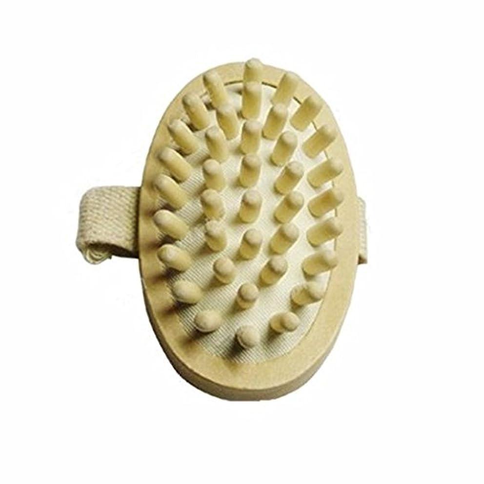 正直石化するワックスThunderStar Natural Wood Wooden Hand-held Massage Circulation Massager Anti Cellulite Sauna Spa Body Brush Cellulite...