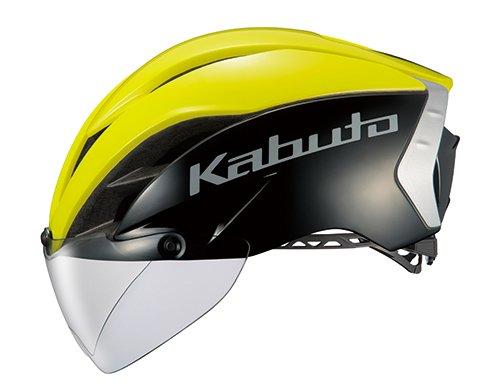 OGK KABUTO(オージーケーカブト) ヘルメット AERO-R1 ブラックイエロー-7 サイズ: S/M