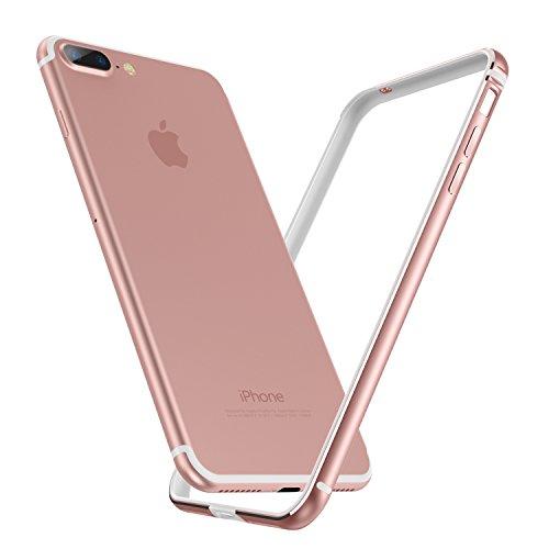 【Humixx】(ヒュミス) iPhone 8 Plus ケース, iPhone 7 Plus バンパー [ アルミ シリコン ] [ ネックリング 付き ] [ レンズ保護 衝撃 吸収 ] アイフォン 7/8 Plus 用 耐衝撃 バンパー (iPhone 7/8 Plus, ローズゴールド)