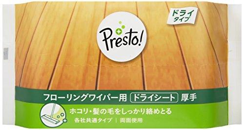 [Amazonブランド]Presto! フローリングワイパー用 ドライシート 厚手 120枚(20枚x6個)