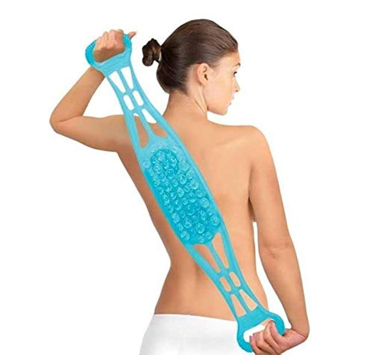 マッサージブラシ シリカゲル 両面 足洗い 背中洗い デュアルサイドバックスクラバー