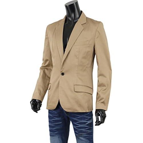 テーラードジャケット メンズ メンズジャケット 1B テーラード ジャケット キレイめ ノッチドラペル FT-O137008 ベージュ M