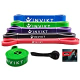 Invikt Pull up Assistance Bands - Extra Durable Resistance Bands with Door Anchor and Starter e-Guide Included, Exercise Bands, Powerlifting and Mobility Bands, Warm-up and Stretching - Single or Set