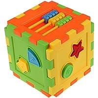 Domybest おもちゃ 子供 木製 型はめ 知育 パズル ボックス ブロック 積み木 マッチング  ソート ブロック 木のおもちゃ