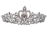 Large Capacity Outdoor Equipment Rhinestone Princess Crown
