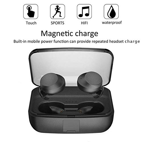 『zhongxinze 【進化版 3000mAh IPX8完全防水】Bluetooth イヤホン Hi-Fi 高音質 最新Bluetooth5.0+EDR搭載 3Dステレオサウンド 完全ワイヤレス イヤホン 自動ペアリング ブルートゥース イヤホン AAC対応 左右分離型 Siri対応 音量調整可能 超大容量充電ケース付き 片耳&両耳とも対応 iPhone/ipad/Android適用 (ブラック)』の7枚目の画像