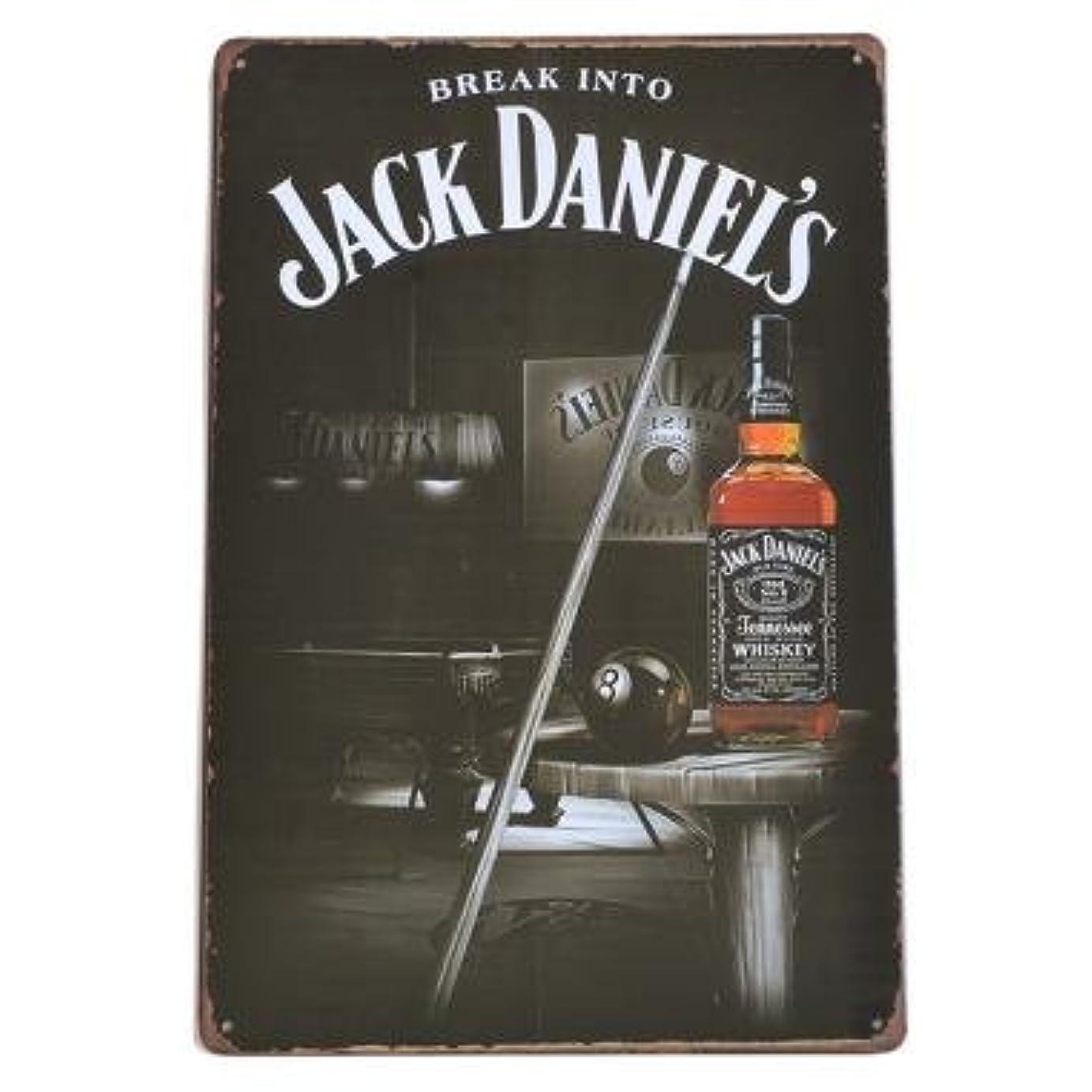 記念品九時四十五分展示会JACK DANIEL'S ブリキ看板 ジャックダニエル 看板 No.7 40cm×30cm (デザイン1) [並行輸入品]