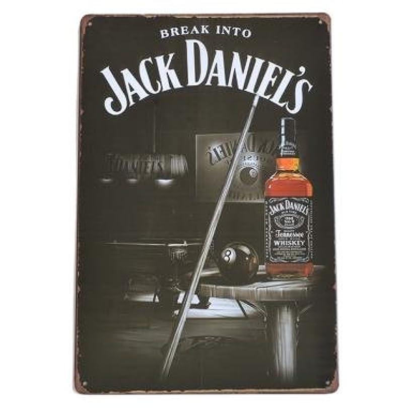 渇きボット手伝うJACK DANIEL'S ブリキ看板 ジャックダニエル 看板 No.7 40cm×30cm (デザイン1) [並行輸入品]